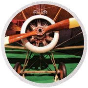 Sopwith Camel Airplane Round Beach Towel