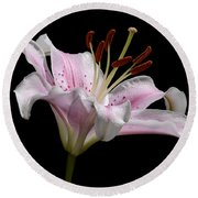 Sorbonne Lily-0002 Round Beach Towel