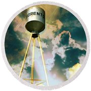 Sorento Illinois Tower Round Beach Towel by Marty Koch