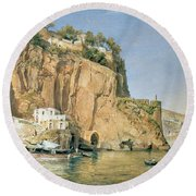 Sorrento Round Beach Towel by Emanuel Stockler
