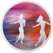Soul Dance  Round Beach Towel