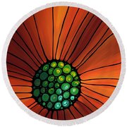 Soul Kiss 2 Round Beach Towel by Sharon Cummings
