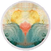 Soul Star - Abstract Art By Sharon Cummings Round Beach Towel