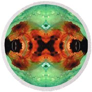 Soul Symphony - Abstract Art By Sharon Cummings Round Beach Towel