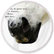 Soul Touch - Emotive Horse Art By Sharon Cummings Round Beach Towel