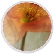 Soulful Poppy Round Beach Towel by Priska Wettstein