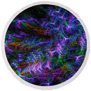 Souls Connectivity Abstract Round Beach Towel