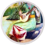 Sound Of River Round Beach Towel