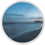 Sounds Of The Ocean Round Beach Towel