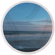 Sounds Of The Sea Round Beach Towel