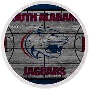 South Alabama Jaguars Round Beach Towel