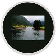 South America - Chile River Round Beach Towel