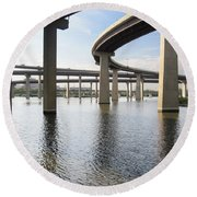 South Baltimore Bypass Round Beach Towel