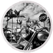 South Beach Cruiser Round Beach Towel