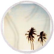 South Beach Miami Round Beach Towel