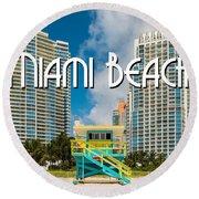 South Beach Round Beach Towel