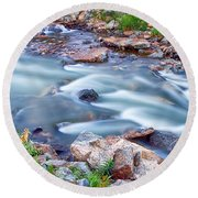 South Boulder Creek Little Waterfalls Rollinsville Round Beach Towel