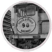 South Buffalo Railway  7d06191b Round Beach Towel