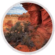 South Coyote Buttes Grand View Round Beach Towel by Inge Johnsson