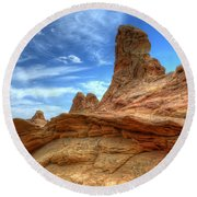 South Coyotte Buttes 8 Round Beach Towel by Bob Christopher