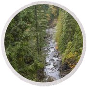 south fork Snoqualmie river Round Beach Towel