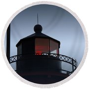 South Haven Light Round Beach Towel