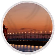 South Haven Reflection Round Beach Towel
