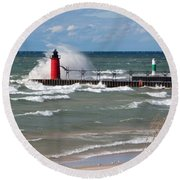 South Haven Splash Round Beach Towel