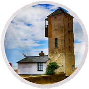 South Lookout Tower Aldeburgh Beach Round Beach Towel