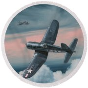 South Pacific Hot Rods Round Beach Towel by Wade Meyers