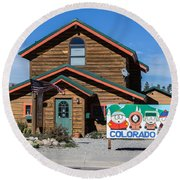 South Park House Round Beach Towel