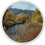 South Platte Round Beach Towel