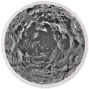 South Pole Of Moon  Round Beach Towel