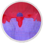 South Rim Sun Original Painting Round Beach Towel