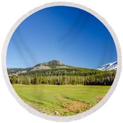 South Sister And Highway Round Beach Towel