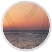 South Sound Sunset Round Beach Towel