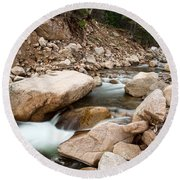 South St Vrain Canyon Autumn View Round Beach Towel