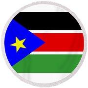 South Sudan Flag Round Beach Towel