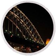 South Sydney Harbour Bridge Round Beach Towel