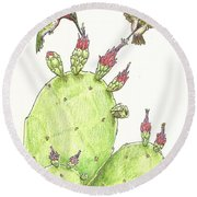 South Texas Nopales For Breakfast Round Beach Towel