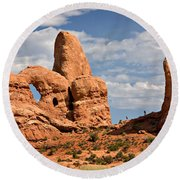 South Window Arches National Park Round Beach Towel