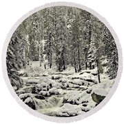 South Yuba River Round Beach Towel