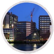 Southbank In London. Round Beach Towel