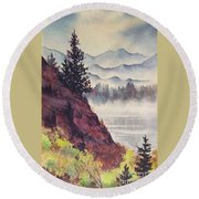 Southeast Alaska Round Beach Towel