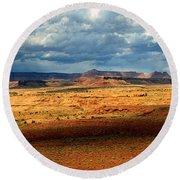 Southeastern Utah Desert Panoramic Round Beach Towel