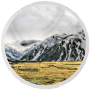 Southern Alps Nz Round Beach Towel