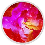 Southern Belle / Hot Pink Magnolia  Round Beach Towel