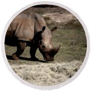 Southern Black Rhino Round Beach Towel