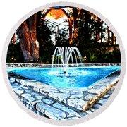 Southern California's Wafarers Chapel 7 Round Beach Towel