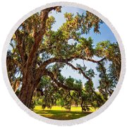 Southern Comfort Round Beach Towel